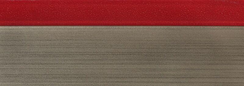 Кромка 3D красный глянец 23х1 мм, PMMA, двухцветная ALVIC