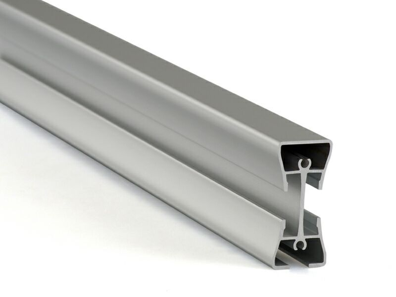 Несущий алюминиевый анодированный профиль, 3000 мм, серебро