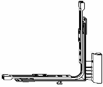 Переключатель угловой c петлей нижней на створку BSU S-ES H-18-9 правый TS