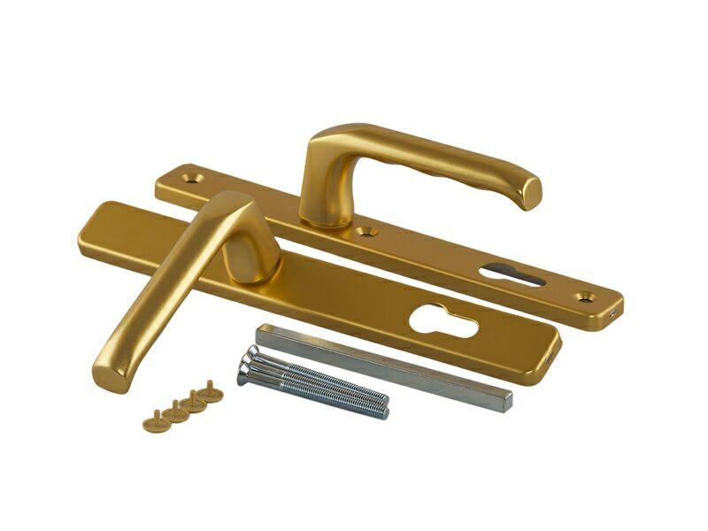 Гарнитур нажимной сплошной, золото матовое Hoppe (для профиля 58-62 мм)