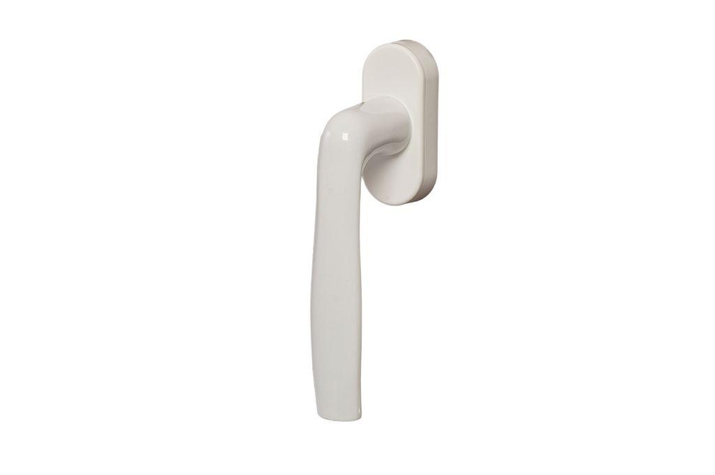 Ручка оконная Hoppe для алюминиевых окон 37 мм (9016) белый, (45 Grad) + 2 винта