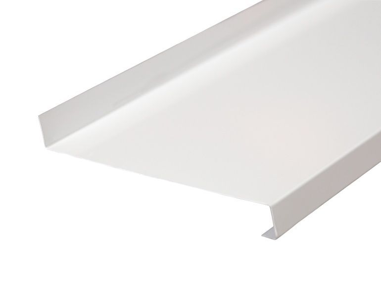 Отлив оконный Gutmann 150мм белый, 6м