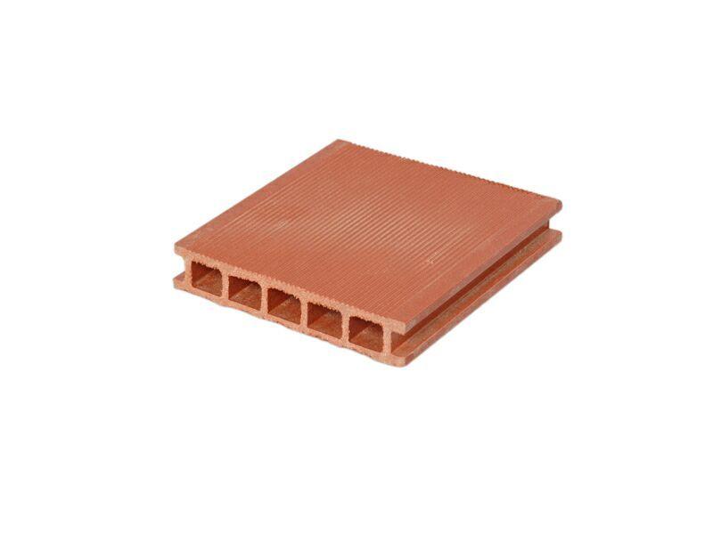 Террасный профиль мелкий вельвет красная глина 25х145х6000 мм