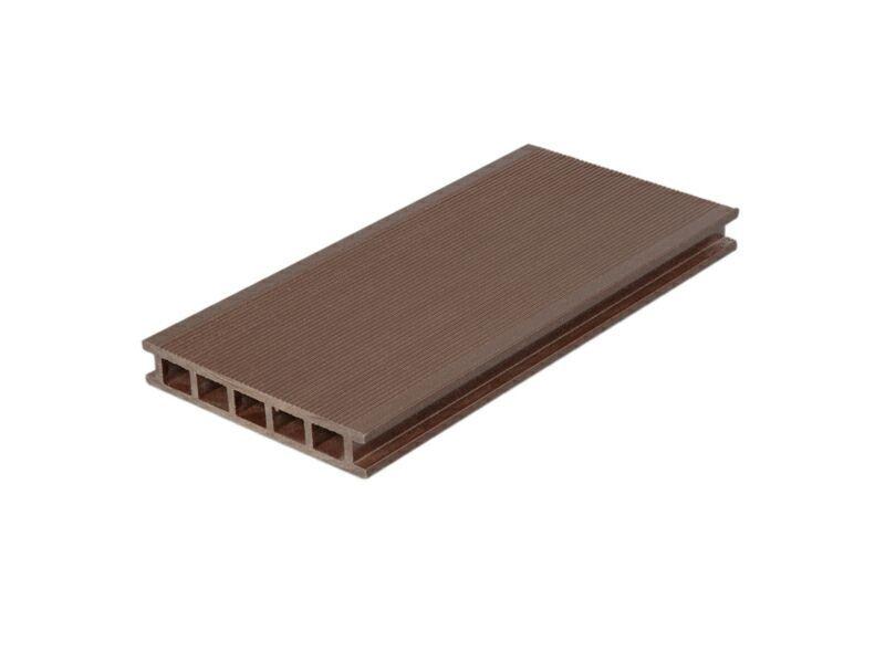 Террасный профиль мелкий вельвет темный шоколад 25х145х6000 мм