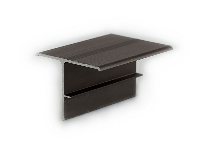 Т-профиль алюминиевый комплект (2 проф) для стыков темн корич (025) 4,0 м
