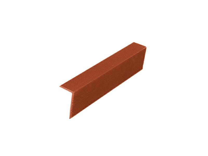 Угловой закрывающий L-профиль красная глина 40х60х4000 мм