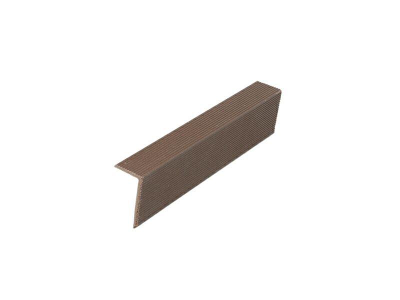 Угловой закрывающий L-профиль темный шоколад 40х60х4000 мм