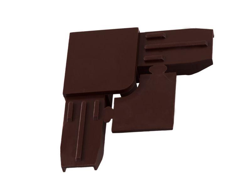 Уголок ABS для профиля МС-БАЗА коричневый