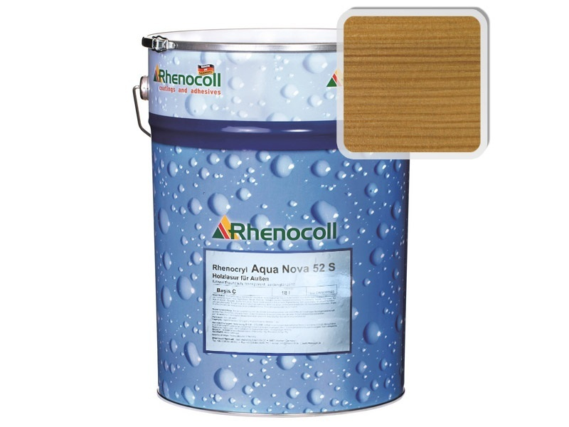 Rhenocoll Aqua Nova 52S Фасадный лак «СВЕТЛЫЙ ДУБ», норма упаковки  — 1л