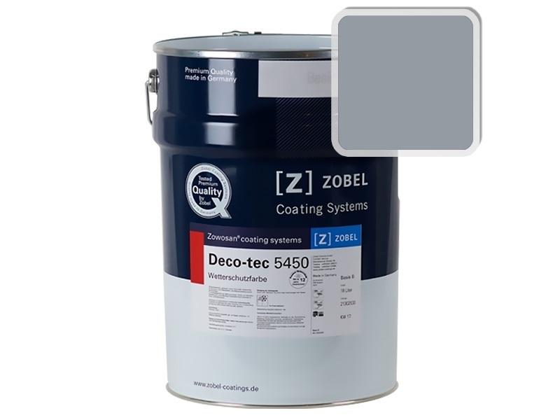 Краска для дерева ZOBEL 5450B RAL 7001, 1 л