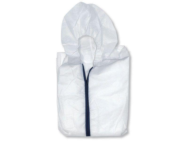 Комбинезон с капюшоном защитный, резинка на талии, руковах и щиколотках, полипропилен, XL