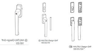 Ручка HAUTAU HKS/SP, цвет  коричневый, внешняя, низкая