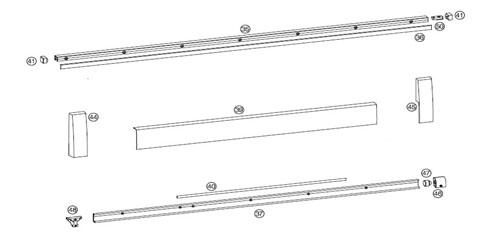 Комплект шин HAUTAU SP / HKS160 S, 1250мм ШР до 2630мм,  цвет   белый