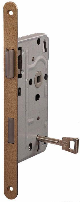 104/BB/OV/R 18мм Замок для деревянных дверей бронза,овальный ,защелка пластик