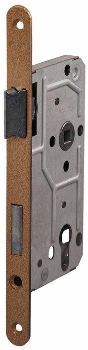 114/PZ/L/18 мм Замок для деревянных дверей бронза,овальный ,защелка металл
