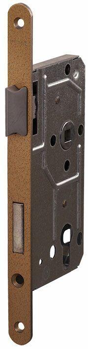 114/PZ/L/18 мм Замок для деревянных дверей бронза,овальный ,защелка металл, пластик