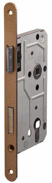 114/PZ/R/18 мм Замок для деревянных дверей бронза,овальный ,защелка металл
