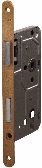 114/PZ/R/18 мм для деревянных дверей бронза,овальный ,защелка металл, пластик