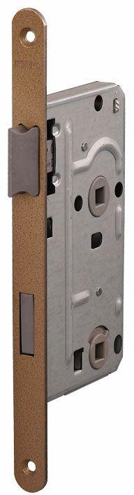104/WC/OV/L 18мм Замок  для деревянных дверей бронза,овальный ,защелка пластик