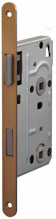 104/WC/OV/R 18мм Замок для деревянных дверей бронза,овальный ,защелка пластик