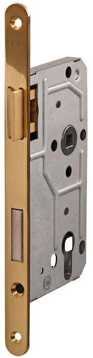 114/PZ/R/18 мм Замок для деревянных дверей бронза,овальный ,защелка металл латунь полированная