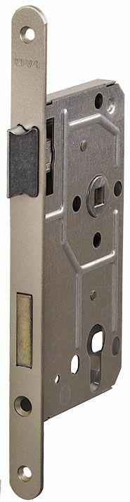 114/PZ/L/18 мм Замок для деревянных дверей серебро,овальный ,защелка металл