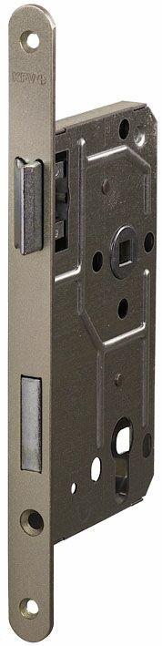 114/PZ/R/18 мм Замок  для деревянных дверей серебро,овальный ,защелка металл