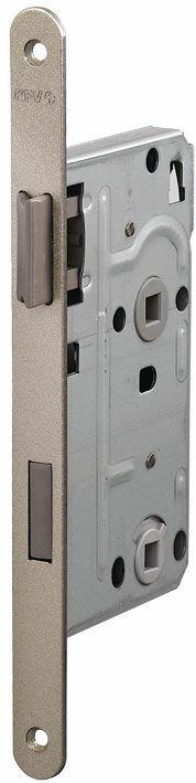 104/WC/OV/R 18мм Замок  для деревянных дверей серебро,овальный ,защелка пластик